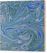 Pond Swirl 3 Wood Print