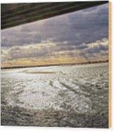 Ponquogue Sky Wood Print