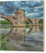 Pont D'avignon France_dsc6031_16 Wood Print