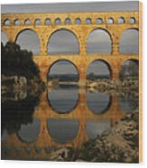 Pont Du Gard Wood Print by Boccalupo Photography