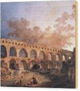 Pont Du Gard Wood Print