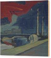 Pont Fragnee In Liege Wood Print