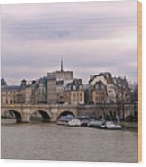 Pont Neuf In Paris Wood Print