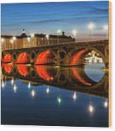 Pont Neuf In Toulouse Wood Print
