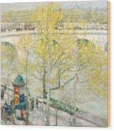 Pont Royal Paris Wood Print by Childe Hassam
