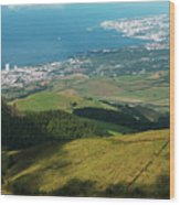 Ponta Delgada And Lagoa Wood Print
