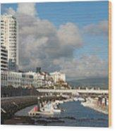 Ponta Delgada Waterfront Wood Print