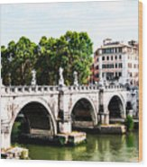 Ponte Saint' Angelo, Rome Wood Print