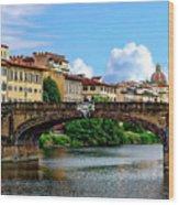 Ponte Santa Trinita Wood Print