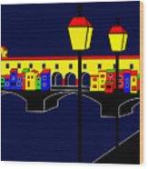Ponte Vecchio Inspirations Wood Print
