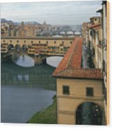 Ponte Vecchio Wood Print by Warren Home Decor