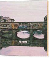 Ponte Vecchio Sunset Photograph Wood Print