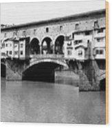 Ponte Vicchio Bridge In Florence Italy - C 1905 Wood Print