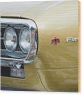 Pontiac Firebird Gold 1967 Wood Print