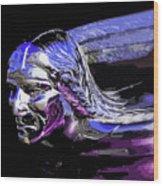 Pontiac Indian Head Hood Ornament Wood Print