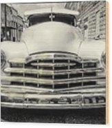 Pontiac Torpedo In Black And White Wood Print