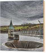 Pontsticill Reservoir Valve Tower Wood Print