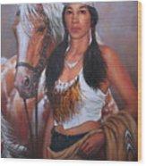 Pony Maiden Wood Print