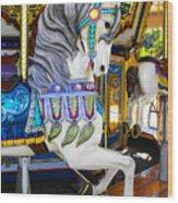 Pony Carousel - Pony Series 5 Wood Print