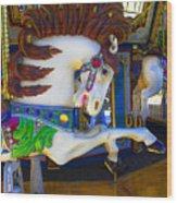 Pony Carousel - Pony Series 6 Wood Print