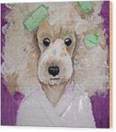 Poodle Wood Print
