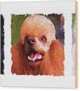 Poodle Trio Wood Print by Jai Johnson