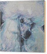 Poodle White Standard Wood Print