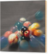 Pool Ball Break 2 Wood Print