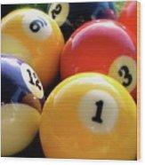 Pool Balls Wood Print