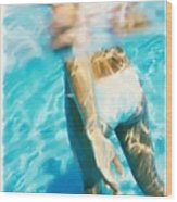 Pool Lady Wood Print