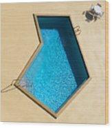 Pool Modern Wood Print