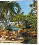 Pool Paradise Wood Print