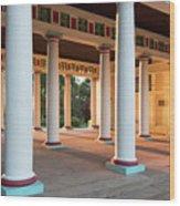 Pool Pavilion  Wood Print