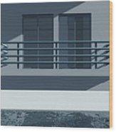Pool Side Wood Print