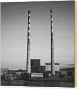 Poolbeg Power Station Dublin Port Ireland Eire Wood Print
