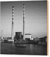 Poolbeg Power Station Dublin Port Ireland Wood Print