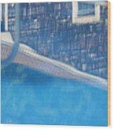 Poolhouse Wood Print