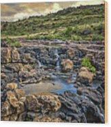 Pools And Waterfalls Wood Print