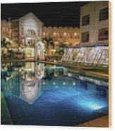 Poolside Boracay Wood Print