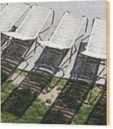 Poolside Wood Print by Lauri Novak