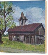 Poor Old Barn Wood Print