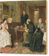 Poor Relations Wood Print by George Goodwin Kilburne