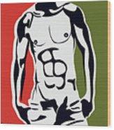 Pop Art Body  Wood Print