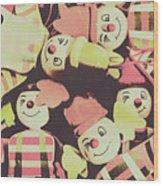 Pop Art Clown Circus Wood Print