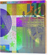 Pop-art Colorized One Hundred Euro Bill Wood Print