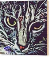Face Of The Feline Wood Print