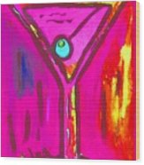 Pop Art Martini  Pink Neon Series 1989 Wood Print