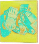 Pop Art Pileup Wood Print