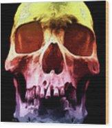 Pop Art Skull Face Wood Print