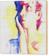 Pop Art Woman Portrait Wood Print